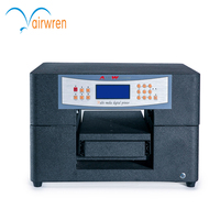 One key clean function mini A4 uv printer for 3D image on wood metal glass