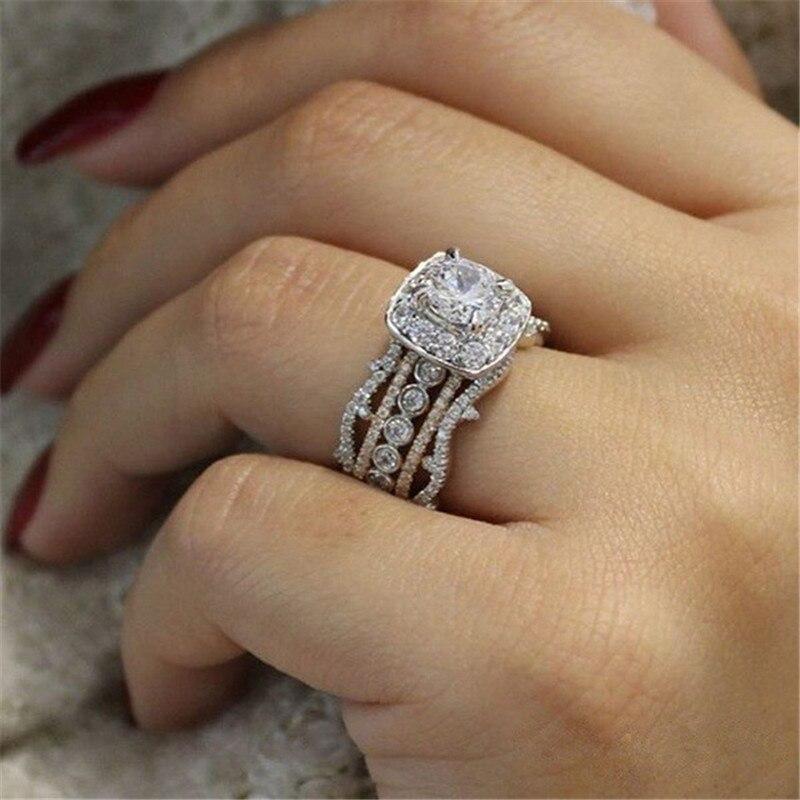 Vintage 5-Band style diamond ring 1