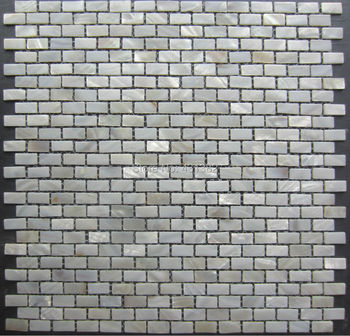 1Shell Mosaic Tiles, 10*20*2 Natural Mother of Pearl Tiles, kitchen backsplash tiles, bathroom wall flooring tiles  - buy with discount