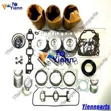 Для Yanmar 3TN75 3TN75-UA ремонтный Ремонтный комплект поршень кольцо прокладка комплект подшипников для трактора дизельный двигатель запчасти