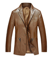 2019 leather coat Male sheep skin leather Blazer Men's leather jackets leather Blazer 114 130 cm M 3 xl