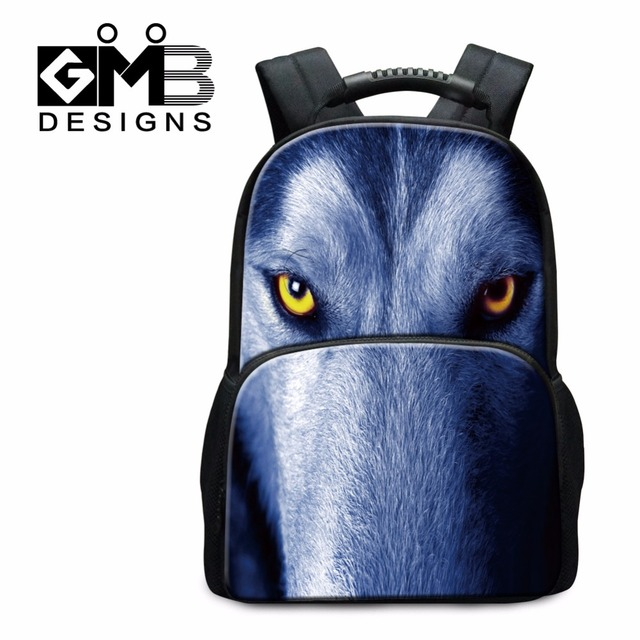 Aliexpress.com : Buy cool book bags for guys animal wolf tiger 3D ...