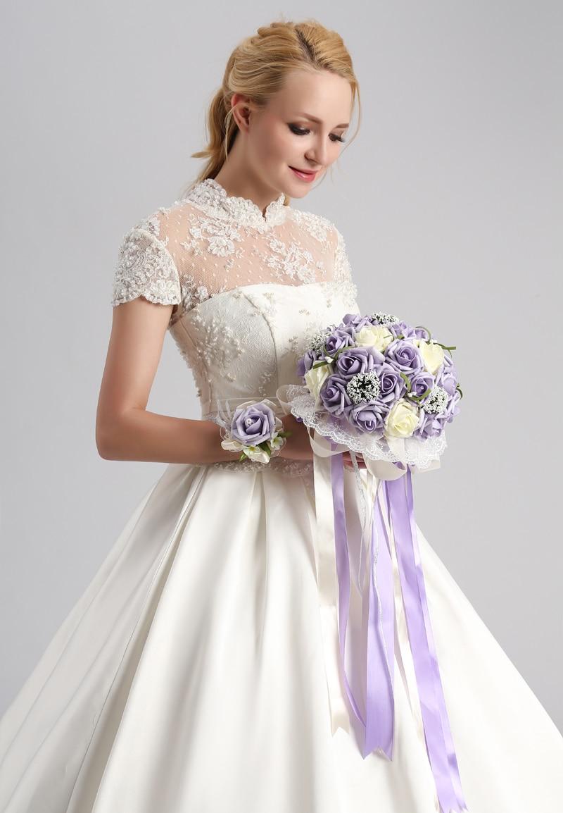 ILoveWedding 2017 Beautiful Purple Wedding Bouquet