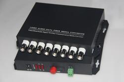 FedEx/DHL Frete Grátis 1 par 8 canal de Vídeo de dados RS485 fibra óptica media converter, com RS485 Única modo de 20Km