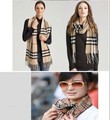 Free shipping Fashion autumn and winter oversized plaid thick wool scarf cashmere scarf plaid cape therma