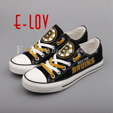 bb3405b7b31 E-LOV Customization Summer Flat Canvas Shoes Printed Graffiti Casual Shoes  Low Top Lace-