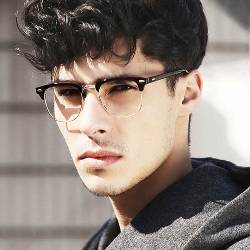 Hot Fashion Retro Half frame Glasses Frame Men Women Optical Glasses ...