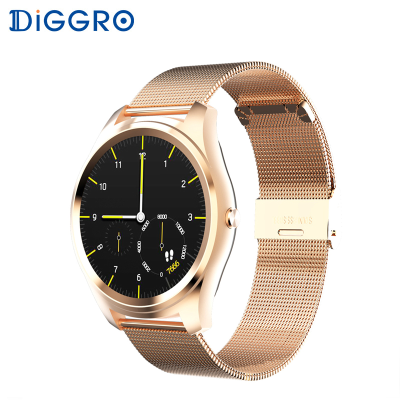 Diggro DI03 Smart watch MTK2502C IP67 Heart Rate Monitor Pedometer Sleep Monitor Notifications Pushing for Android & IOS bluetooth siri diggro di02 mtk2502c 128mb 64mb smart watch heart rate pedometer sleep monitor sedentary android & ios reminder