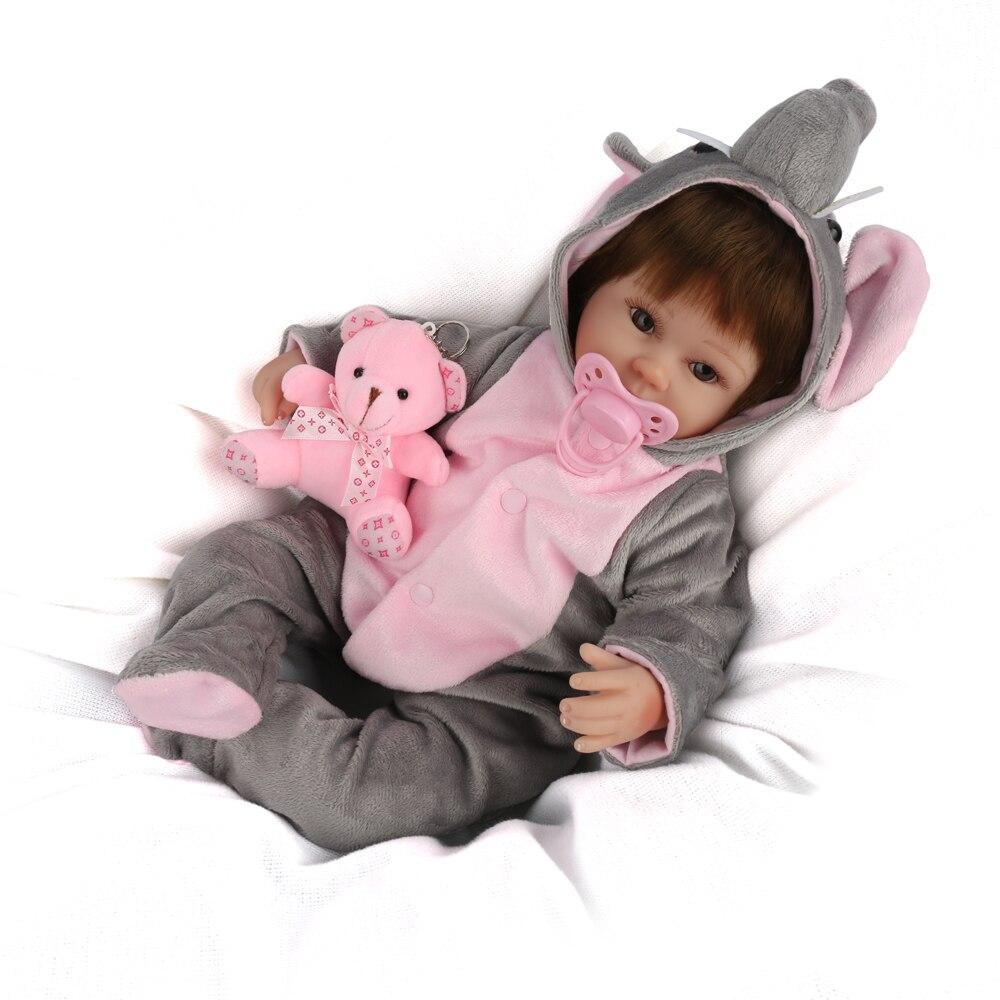 현실적인 다시 태어난 인형 수제 살아있는 신생아 아기 인형 자기 젖꼭지 brinquedos 완구 어린이를위한 인기있는 생일 선물-에서인형부터 완구 & 취미 의  그룹 1