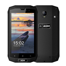 """Оригинал AGM A1Q IP68 Водонепроницаемый мобильного телефона 5.0 """"HD 1280*720 4 ГБ Оперативная память 64 ГБ Встроенная память Qualcomm MSM8916 4 ядра 13MP 4050 мАч OTG NFC"""