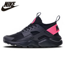 half off 64904 94ae5 Nike Air Huarache Run Ultra 4 Sneakers Sports Shoes Black Pink Running Shoes  For Men And Women 847568-003 36-44