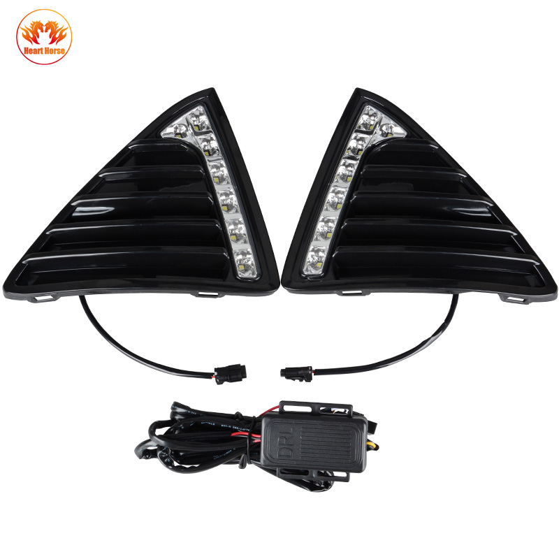LED DRL Daytime Running Lights Gloss Style Fog Light With Turn off And Dimmer Function Case For Ford Focus 3 2012 2013 2014 2015 turn off and dimming style relay led car drl daytime running lights for ford kuga 2012 2013 2014 2015 with fog lamp