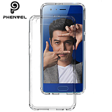 Phenvel crystal bumper case for huawei honor 9 TPU + PC Transparent clear cover honor9 impact protection