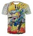 Женщины Мужчины Лето Улица Битник 3D футболка Мода Мультфильм футболки Классический Аниме футболки Наруто Узумаки Наруто тройники рубашки