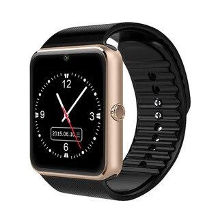 Image 1 - Montre intelligente bluetooth grand écran tactile support carte SIM rappel de message dappel Bracelet intelligent bande Tracker de Fitness pour hommes femmes