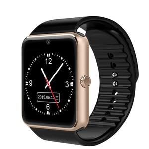 Image 2 - Smart Uhr Große scren touch Bluetooth fitness Uhr 2G Netzwerk mit SIM karte Call nachricht Erinnerung Schrittzähler Android tragen touch