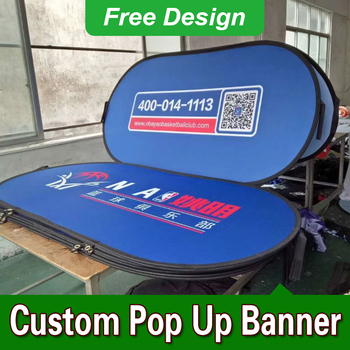 Free Design Free Shipping Vertical Top Banner Frame Pop Up Signs Pop Up A Frame