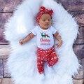 Christmas Newborn Baby Girl Boy Raindeer Romper Pants Leggings Headband 3pcs Outfits Infant Bebek Clothing Set 0-18M