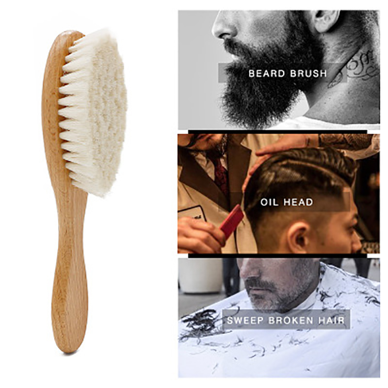 Men's 1PCS Shaving Brush Barber Salon Men Facial Beard Cleaning Appliance Shave Tool Razor Brush with Wood Handle for men