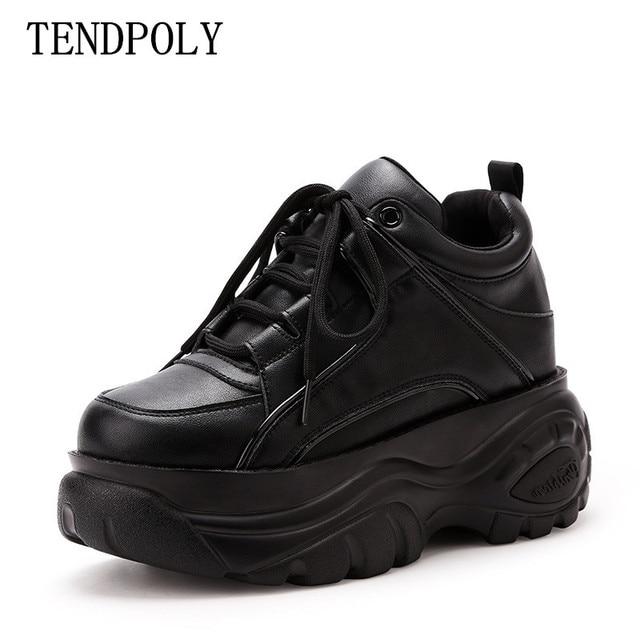 Mới thời trang thể thao Giày bốt nữ thu đông đáy Dày tăng 6.5 CM nữ Casual Boot phối Sneakers Nữ