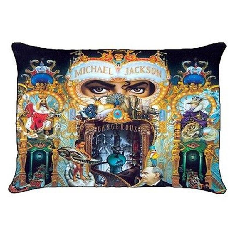 New Michael Jackson Dangerous Pillowcase MJ Michael Jackson Rectangle Pillow Case Cover Polyester Print Pillow Sham Bedding Gift