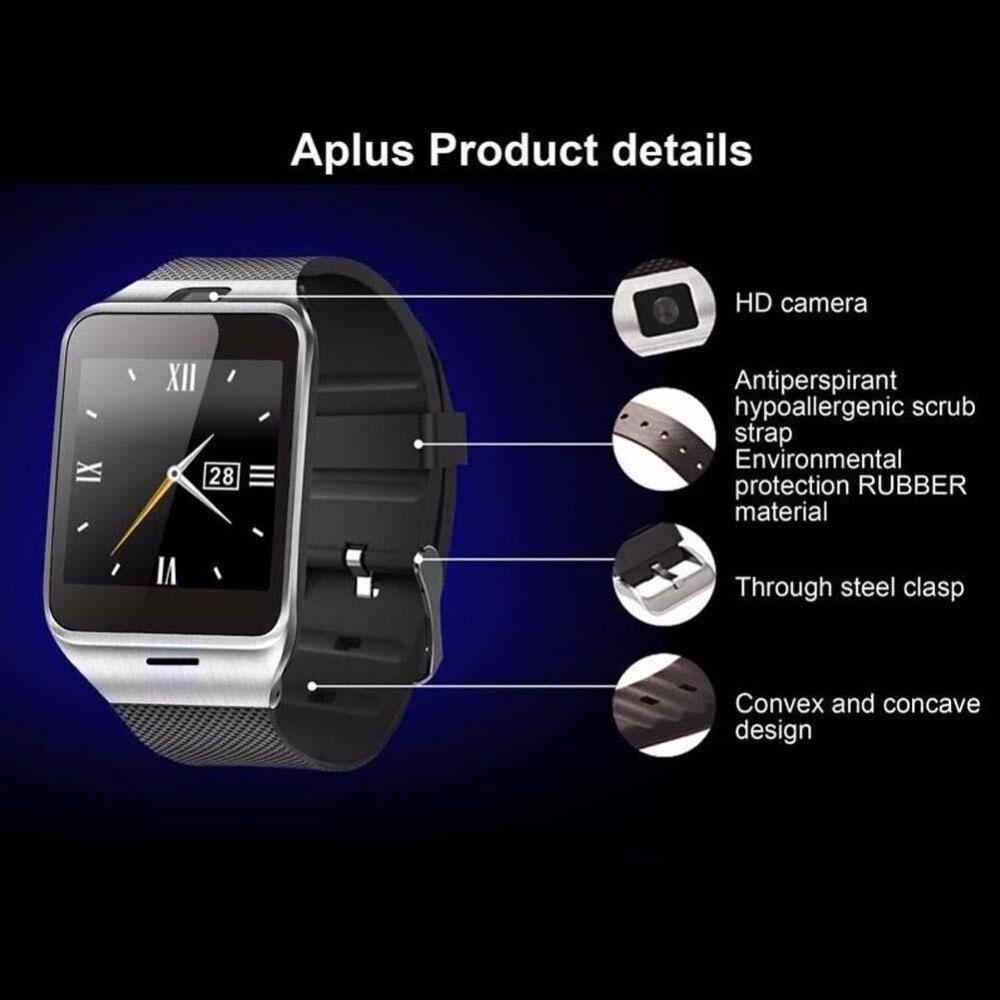 2016 Hot Man Women GV18 Waterproof Bluetooth Smart Watch For Phone Free shipping 2016 bluetooth smart watch gt08 for
