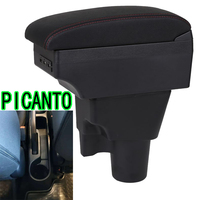 For Kia PICANTO Central armrest box KIA picanto Russian version Automotive interior accessories chargeable Punch free