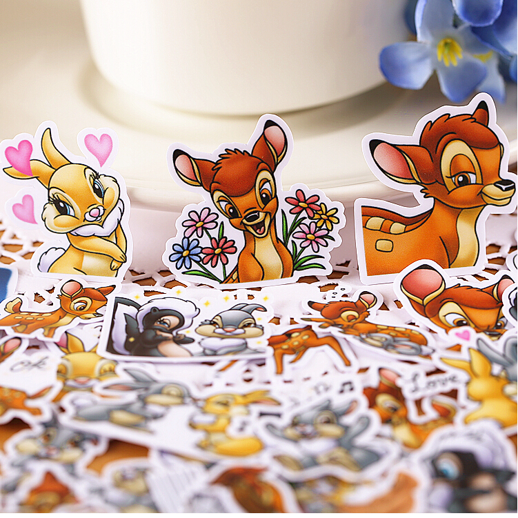 40pcs Creative Cute Self-made  Cute Deer Bambi Stickers/Scrapbooking Stickers /Decorative Sticker /DIY Craft Photo Albums