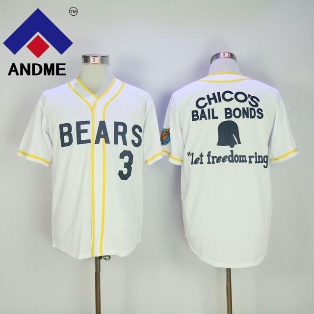 12 Tanner Boyle Bad News Bears Movie 1976 Chicos Bail Bonds WHITE Men Baseball Jersey 3 Kelly Leak White Stitched Size M-3XL