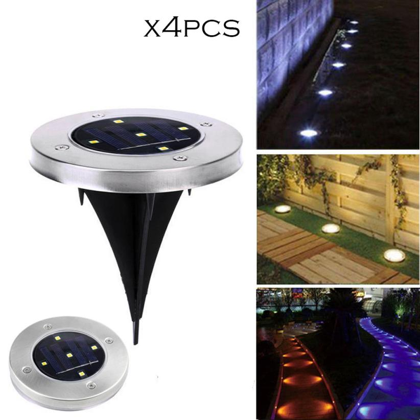 Festive & Party Supplies Home & Garden Delicious Ground Light 4pcs 5led Solar Power Buried Light Under Ground Lamp Outdoor Path Garden Decking Decor Light Drop Shipping Apr26