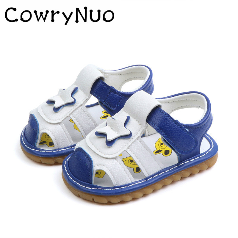 Toddler Shoes Soft-Soled Baby New Summer for with Sound