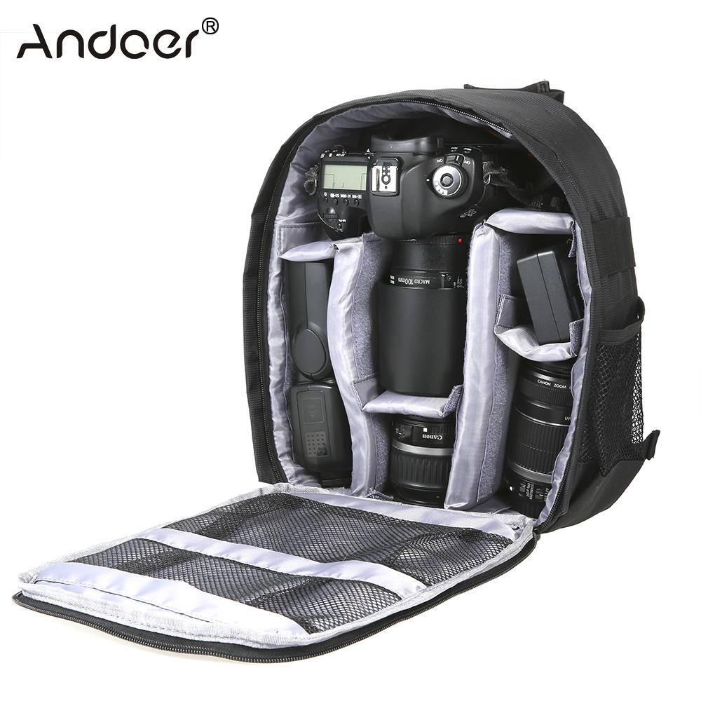 Digital Gear Bags Camera/video Bags Andoer Dslr Digital Camera Backpack Bag New Multi-functional Small Video Backpack Waterproof Outdoor Video Camera Bag Backpack