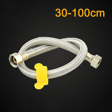 304 Stainless Steel Shower Hose Soft Shower Pipe Explosion-proof Flexible Bathroom Plumbing Hoses 30/40/50/60/80/100CM bathroom stainless flexible hose silver hand shower hose 1 5m 2 0m bath water inlet pipe plumbing hoses tuyau de douche