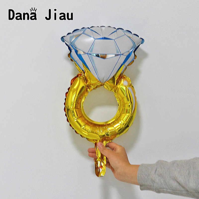 خاتم الماس احباط بالونات الزفاف الزواج نفخ بالون للديكور الذهب الهيليوم الهواء الكرة عيد ميلاد ألعاب احتفالات
