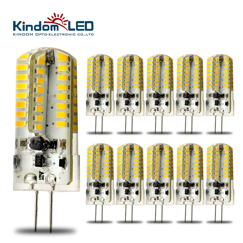 KINDOMLED 10pcs G4 12 Volt LED Light Bulbs AC DC 3W 6W lamp High Power 360