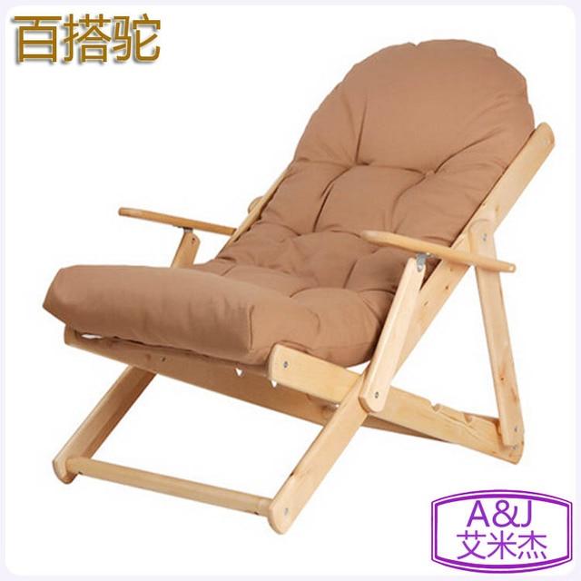Plegable de madera maciza sillón sillón reclinable mecedora feliz ...