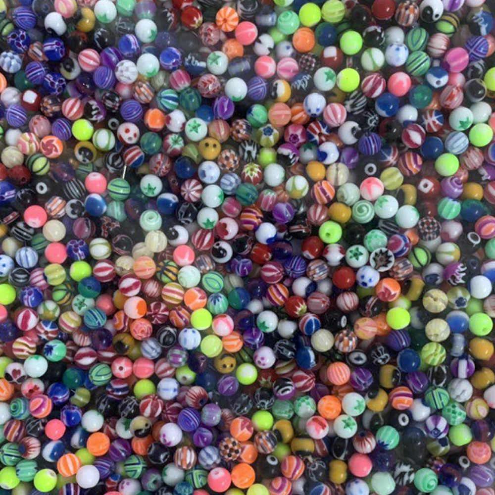 """6 מ""""מ אקריליק גדול כדור כדורי החלפת האף ברבל עגיל לשון גבות טבעת פירסינג תכשיטים"""