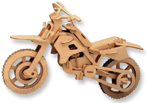 3D Wooden Puzzle Motorcycle Model Children and Adult s Educational Building Blocks Puzzle Toy