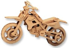 LeadingStar 3D Wooden Puzzle Motorcycle Model Children and Adult s Educational Building Blocks Puzzle Toy zk15