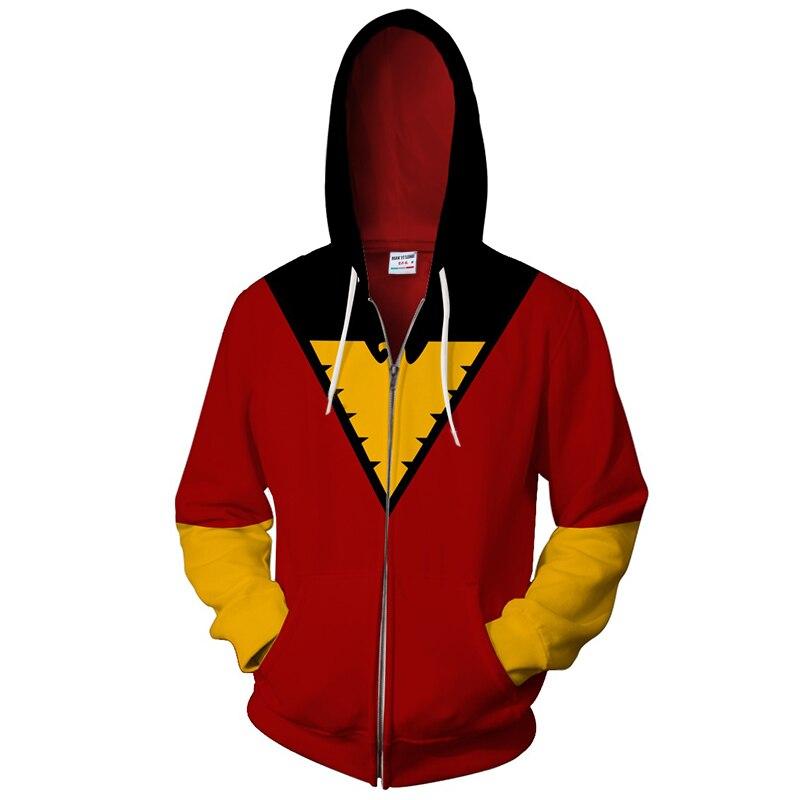 2018 dark-phoenix Zip Hoodie Sweatshirt Unisex Funny 3D Hoody Fashion Streetwear New Design Hoodie tops US size xxs-4xl