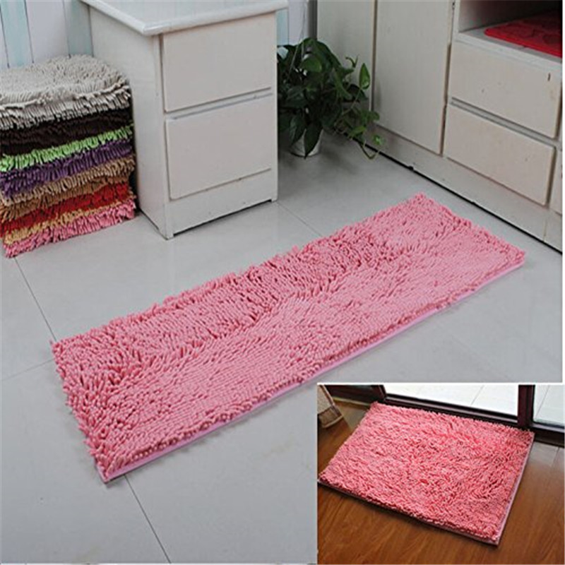 Soft Microfiber Anti Slip Floor Mat Shag Chenille Rug Bathroom Rug Set  Washable Kitchen Rug Non Slip Absorbent Floor Runner Mats In Carpet From  Home ...