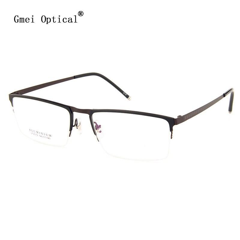 Gmei Optical LF2019 Metal Semi-Rimless Frame Eyeglasses for Women and Men Eyewear Spectacles
