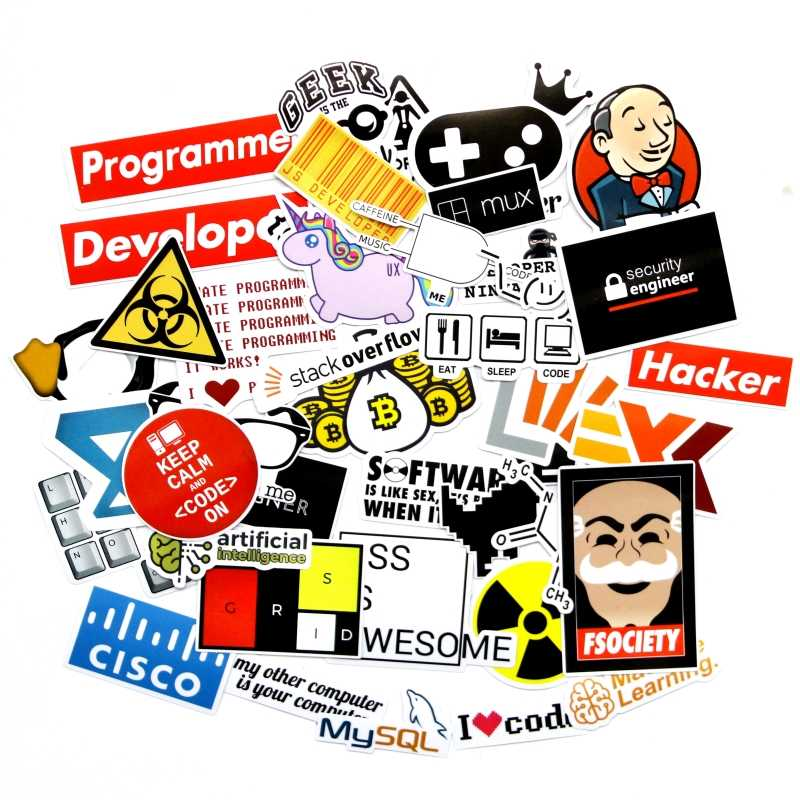40 PCS Developer Docker Hacker CSS programmer SQL funny  bicycle stickers for PC Mobile phone decoration stickers