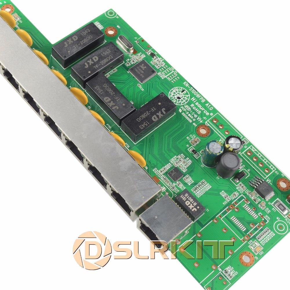 DSLRKIT 9 Ports 8 PoE injecteur de puissance sur Ethernet commutateur 48 V 120 W pour caméra IP/système de caméra AP/CCTV sans fil - 5