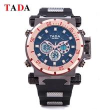 Top Luxury TADA Marca Del Deporte Militar Reloj de Cuarzo Digital de doble movimiento del reloj Para hombre Relojes Hombre Reloj de Pulsera Reloj Del Relogio masculino