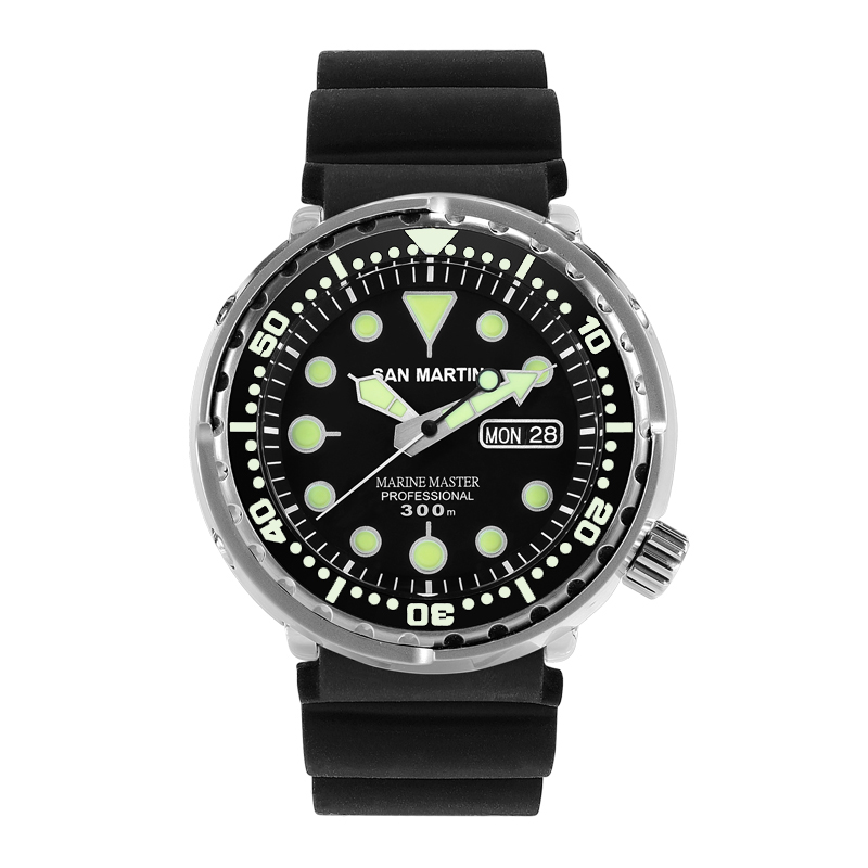 Tuna SBBN015 Men Fashion Watch Automatic Diving Sport Watch Stainlss Steel Wristwatch 300mWater Resistant Ceramic or