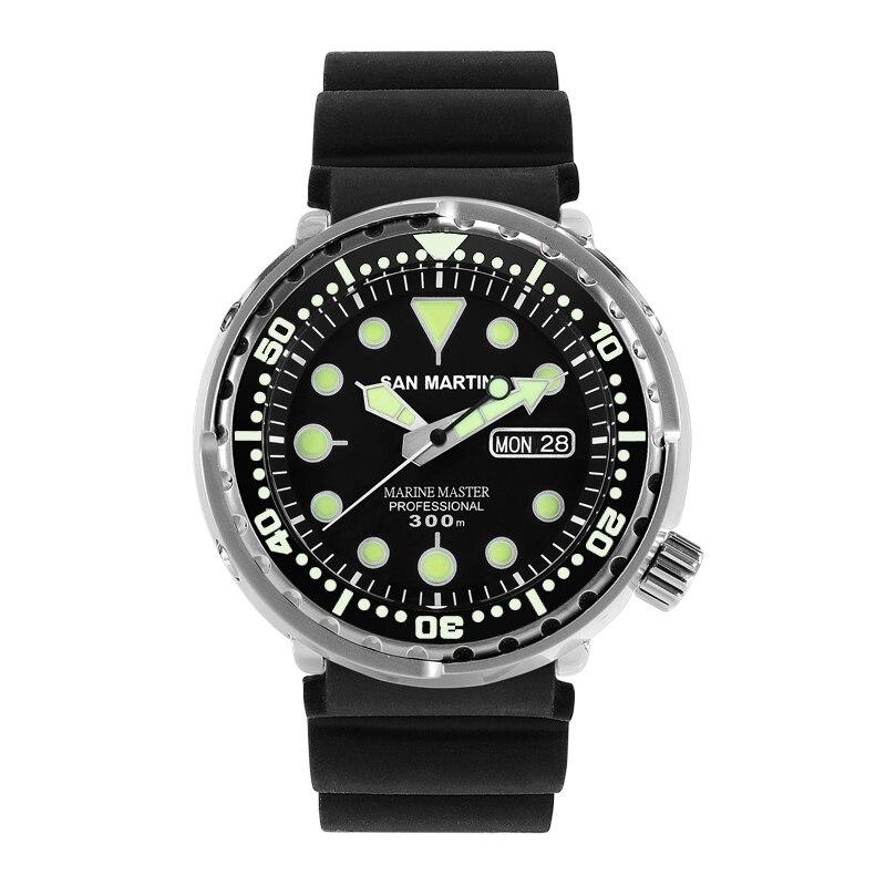 Tuna SBBN015 Men Fashion Watch Automatic Diving Sport Watch Stainlss Steel Wristwatch 300mWater Resistant Ceramic or steel bezel