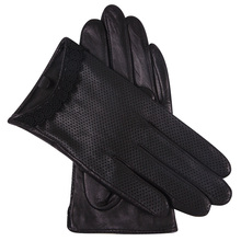 Genuine Leather Gloves Lady Autumn Sheepskin Driving Thin Style Breathable Touchscreen Woman L18001NN
