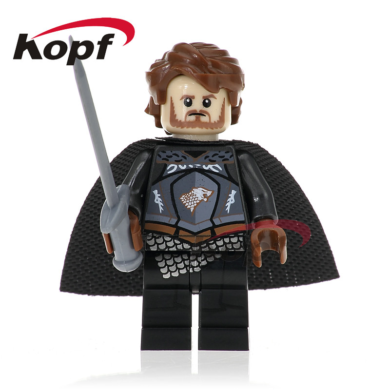 Single Sale Robb Stark Grey Wind King of North Daenerys Targryen Game of Thrones Ice and Fire Building Blocks Kids Toys PG1054 17cm the iron throne game of thrones a song of ice and fire figures action