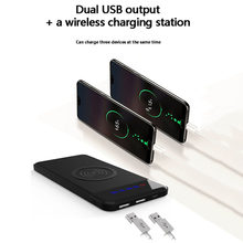 Power Bank 10000 Mah Ultra-thin Wireless charging Portable battery power-bank Polymer For iPhone X/6/7/8plus For xiaomi Hot sale(China)